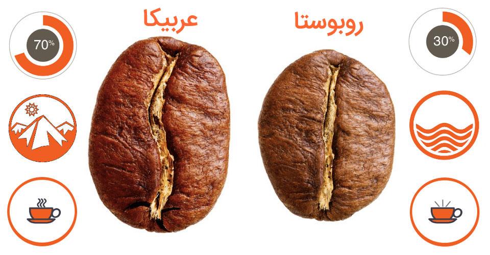 دانه قهوه عربیکا خارجی